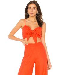 Faithfull The Brand - De Fiori Top In Orange - Lyst