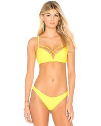 Beach Bunny - Bunny Basics Dylan Underwire Top In Yellow - Lyst