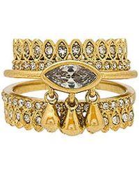 Luv Aj - The Cosmic Teardrop Ring Set In Metallic Gold. - Lyst