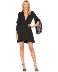 Amanda Uprichard - Flutter Sleeve Dress - Lyst