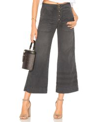 Sundry - La Plage Pant In Charcoal - Lyst