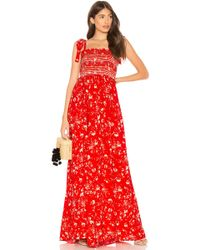 Free People - Color My World Jumpsuit In Red - Lyst