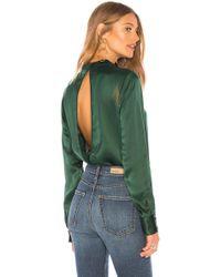 Nobody Denim - Split Back Shirt In Dark Green - Lyst