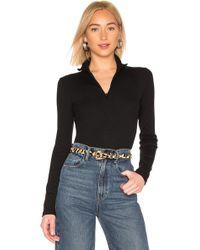 Vince - Long Sleeve Half Zip Top In Black - Lyst