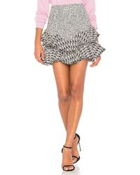 Rebecca Taylor - Mixed Tweed Skirt In Black - Lyst