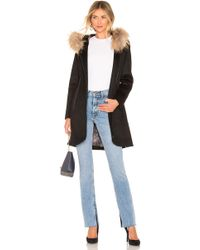 SOIA & KYO - Charlena Coat With Fur Collar - Lyst