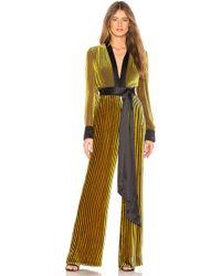 Diane von Furstenberg - Sash Jumpsuit In Yellow - Lyst