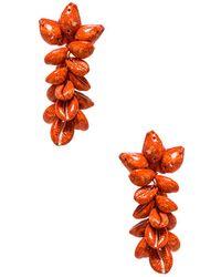 All Things Mochi - Terry Earrings In Red. - Lyst