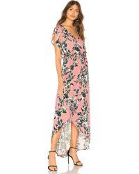 Splendid - Painted Floral Wrap Dress - Lyst