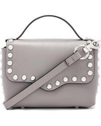 Rebecca Minkoff - Blythe Small Flap Crossbody Bag In Grey. - Lyst