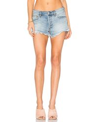 Free People - Soft & Relaxed Cut Off Shorts - Lyst