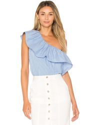 1.STATE - One Shoulder Ruffle Top - Lyst