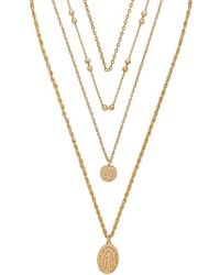 8 Other Reasons - Hail Mary Necklace In Metallic Gold. - Lyst