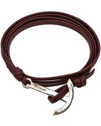 Miansai - Modern Anchor On Leather - Lyst