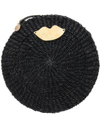 Clare V. - Woven Circle Clutch In Black. - Lyst