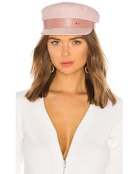 Don - Suede Sailor Cap In Pink - Lyst