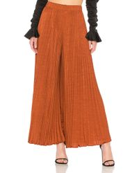 Elizabeth and James - Noble Pleated Pant In Rust - Lyst