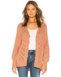 House of Harlow 1960 - X Revolve Grayson Cardigan In Mauve - Lyst