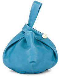 2d21bc34f4 Clare V. Grand Henri Maison Textured-leather Shoulder Bag in Blue - Lyst