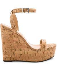 11f9577f7205 Schutz - Women s Eduarda Platform Wedge Sandals - Lyst