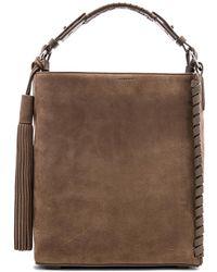 AllSaints - Kepi Lea Shoulder Bag In Brown. - Lyst