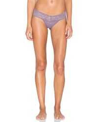 Hanky Panky - Low Rise Thong In Purple. - Lyst