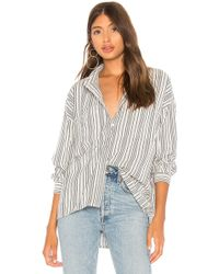 Amuse Society - Fresh Take Woven Top In White - Lyst