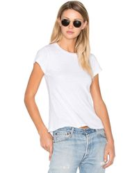 RE/DONE - 1960's Slim Tee In White - Lyst