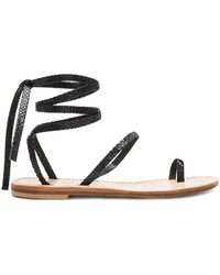 Cornetti - Alicudi Sandal In Black - Lyst