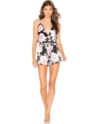 635e52e2e97 Lyst - Blq Basiq Sleeveless Romper in Black