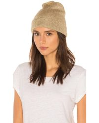 Yestadt Millinery - Soho Metallic Knit Beanie In Metallic Gold. - Lyst