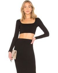 Lovers + Friends - Top Cropped Manches Longues Carlina - Lyst