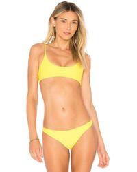 Mikoh Swimwear - X Revolve Hermosa Bikini Top In Yellow - Lyst