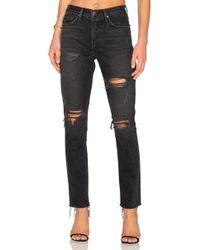 GRLFRND | Karolina High-rise Skinny Jean With Butt Slit | Lyst