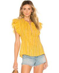 Apiece Apart - Maria del mar top en color amarillo - Lyst