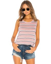 Michael Stars - Lexi Stripe Shift Tank In Blush. - Lyst