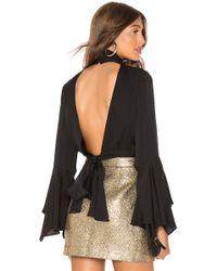 MILLY - Stretch Silk Misha Blouse In Black - Lyst