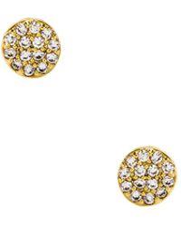 Gorjana - Pristine Shimmer Charm Studs In Metallic Gold. - Lyst
