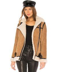 AllSaints - Rei Shearling Jacket - Lyst