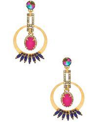 Elizabeth Cole - Reese Earrings In Metallic Gold. - Lyst