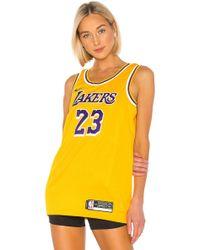 3e122de1c05 TOPSHOP X Unk Lakers Sequin Crop Top in Blue - Lyst
