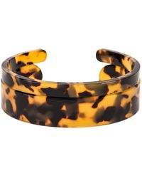 Shashi - Emma Lucite Cuff Bracelet Set In Brown. - Lyst