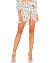 For Love & Lemons - St Louis Mini Skirt In Baby Blue - Lyst