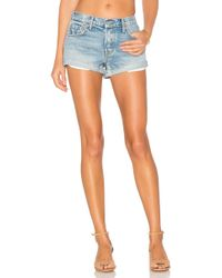 GRLFRND - Adriana Mid-rise Slouchy Short Tacked And Rolled - Lyst