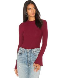 Getting Back to Square One - The Ruffle Sleeve Top In Red - Lyst