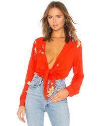 Capulet - X Revolve Daria Bodysuit In Red - Lyst