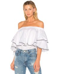 Endless Rose | Ruffle Trim Off Shoulder Top | Lyst