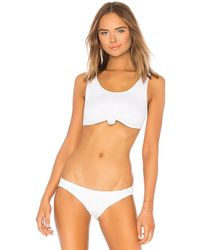 Beth Richards - Knot Bikini Top In White - Lyst