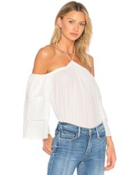 1.STATE - Cold Shoulder Tiered Sleeve Blouse - Lyst