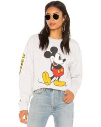 Junk Food - Mickey Mouse Classic Oversized Sweatshirt - Lyst